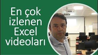 En çok izlenen 10 Excel Eğitim videosu- Ömer BAĞCI