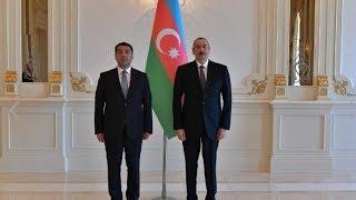 Алиев принял верительные грамоты посла Казахстана