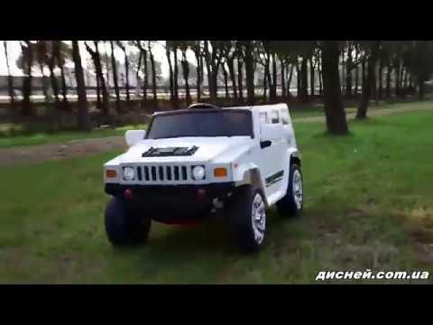 Детский электромобиль Джип M 3581 EBLR-1, Hummer, кожаное сиденье - дисней.com.ua