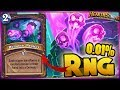 Hearthstone - 0.01% RNG WTF Moments - Funny and Lucky Plays