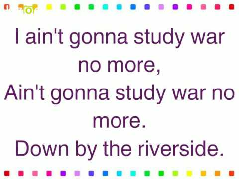 Down By the Riverside Lyric Video