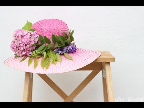 customizar un sombrero - YouTube 35defcf69d2