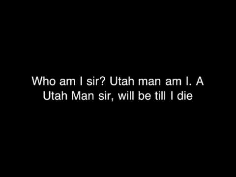 Utah man (lyrics)