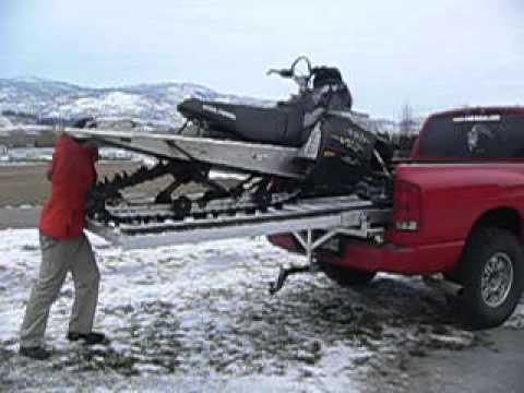 quicky sled deck assembly and snowmobile loading youtube