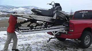 Quicky Sled Deck Assembly And Snowmobile Loading
