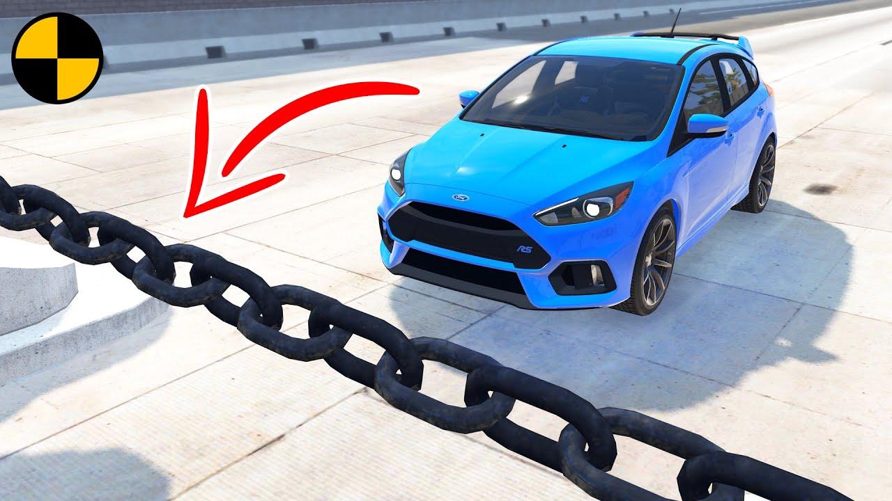 Cars vs Chain 😱 BeamNG.Drive