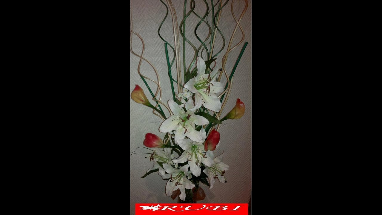 Diy manualidades arreglo floral en jarron alto youtube - Decorar jarrones altos ...