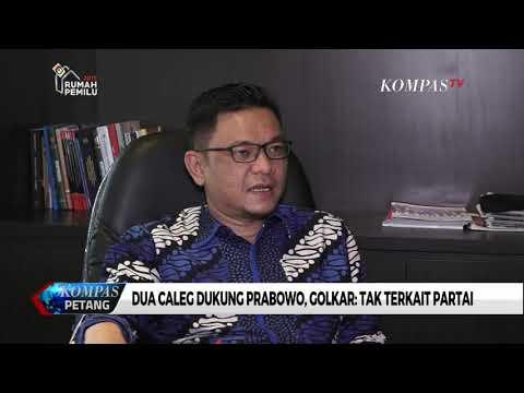 Dua Caleg Dukung Prabowo, Golkar: Tak Terkait Partai
