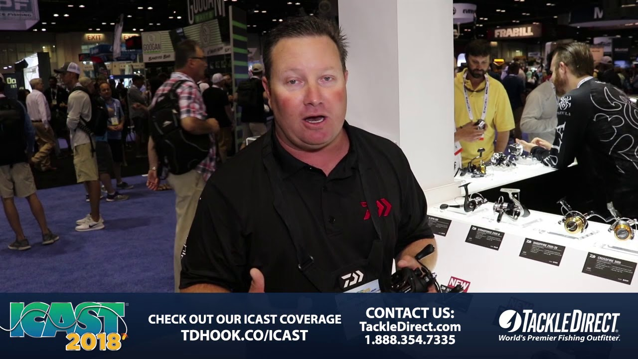 50fb502ab85 Daiwa CC 80 Baitcasting Reels at ICAST 2018. TackleDirect