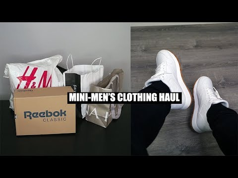 Men's Fashion Clothing Haul 2018-Reebok, American Eagle, H&M, Banana Republic