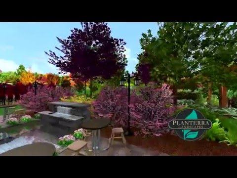 Acreage Subdivision Yard 3D Landscape Design Walkthrough