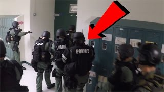 I GOT SWATTED IN SCHOOL... (PRANK GONE WRONG)