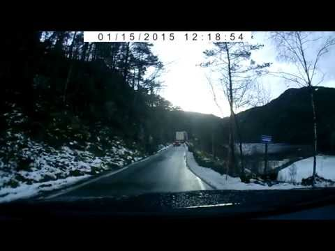 Dash cam video in Norway