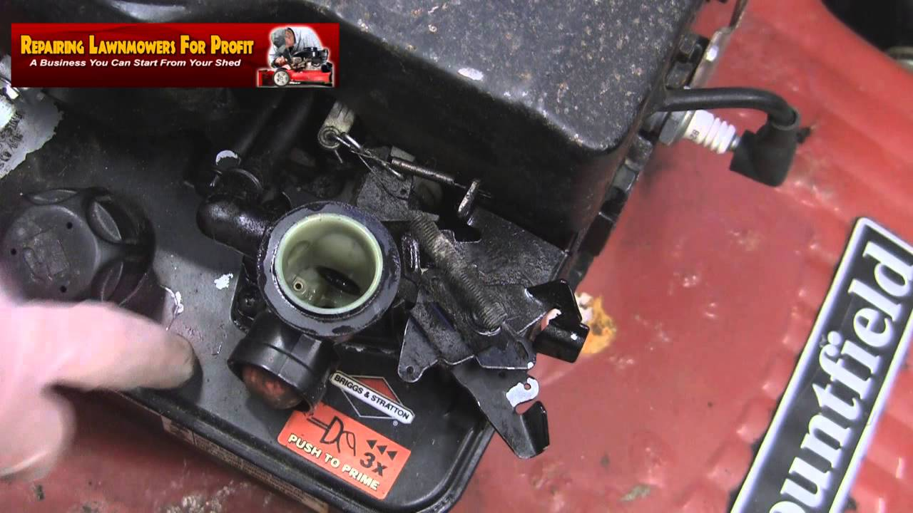 Briggs And Stratton Engine >> Repairing Lawnmowers For Profit Part 61 (Governor Spring Help) - YouTube