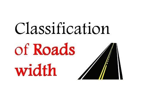 ClassificationofRoads width