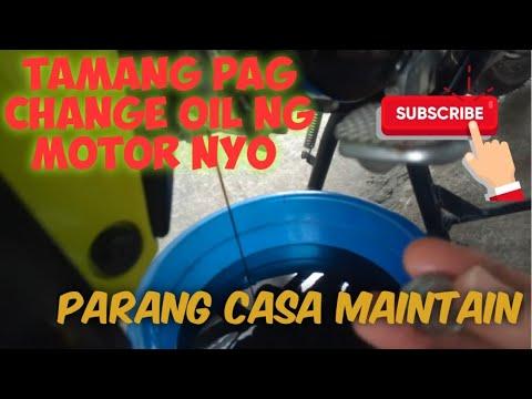 Change oil / oil check procedure ng Honda wave 110r or underbone motor
