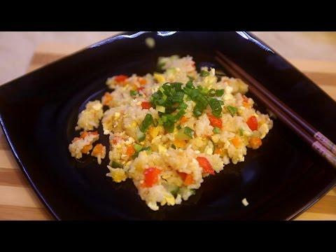 Жареный рис с овощами по китайски