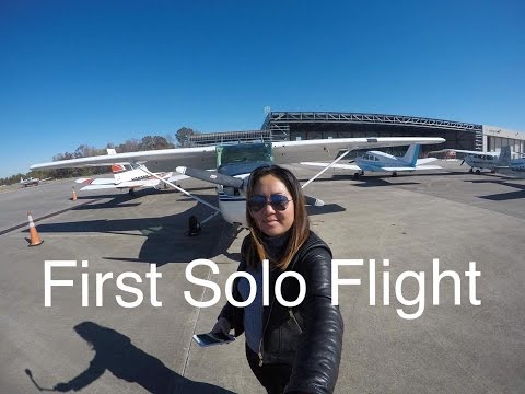 Cristina's first solo flight - ATC AUDIO