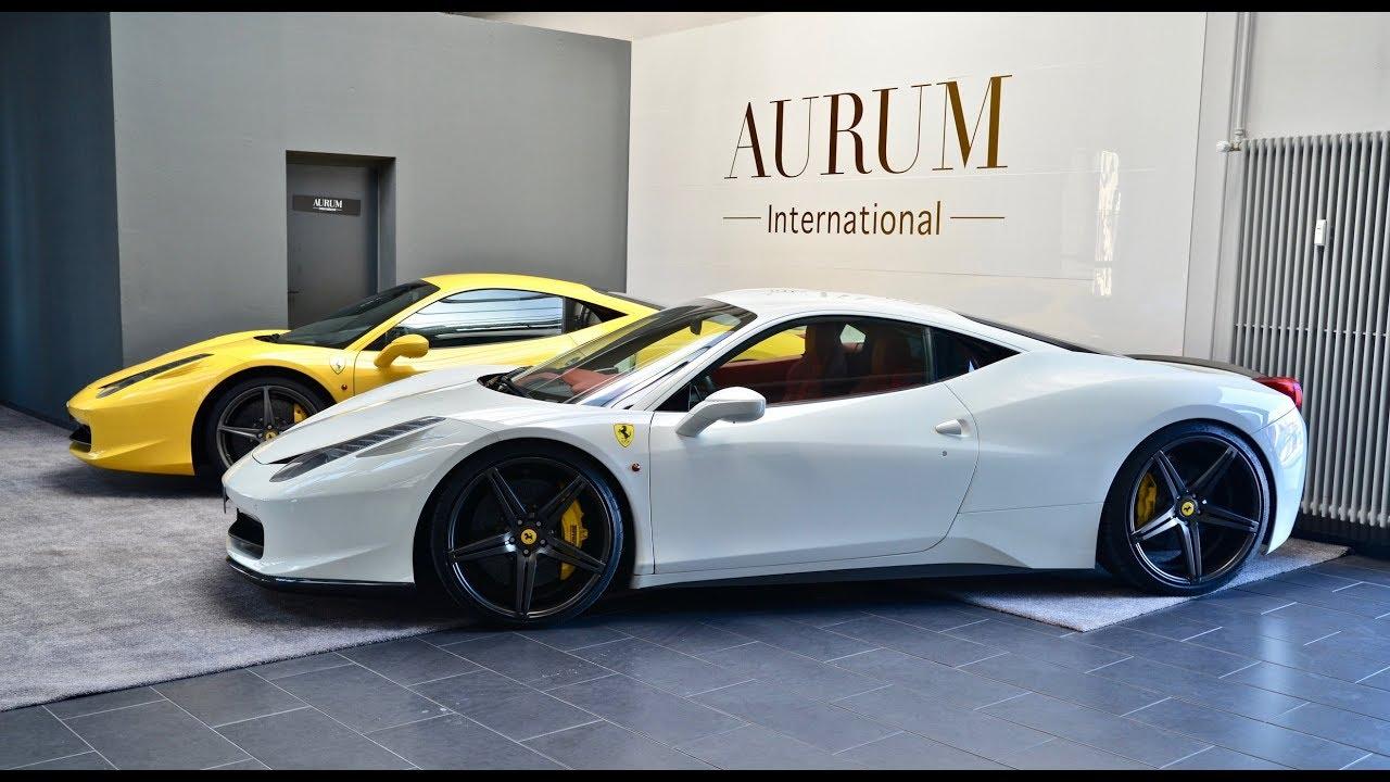 Ferrari 458 Italia Bianco White Rosso Red Interior Walkaround By Aurum International Youtube