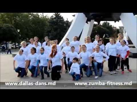 Детский флешмоб за здоровый образ жизни от студии танцев Dallas. Dansuri in Chisinau pentru copii