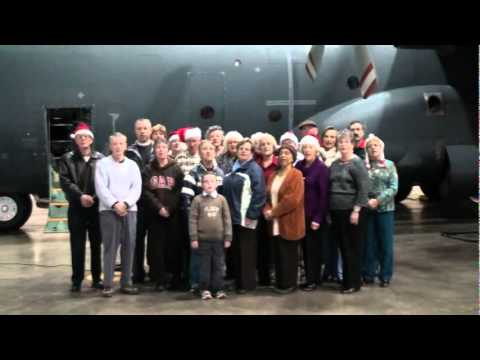 The Chapel of the Good Shepherd, 17 Wing Canadian Forces Base, Winnipeg, MB singing Silent Night