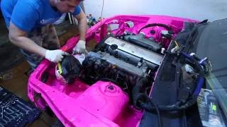 "#DiStroyka Постройка Toyota mark2 JZX90 ""Pink Porn"" своими руками. Выпуск 1"
