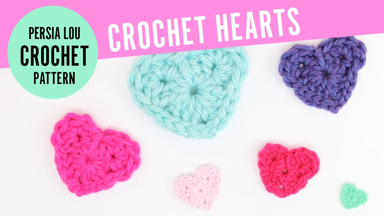 how to crochet hearts