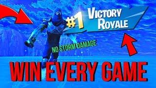 Gagnez tous les jeux dans Fortnite Battle Royale 'GAME BREAKING GLITCH' (Pas de dégâts de tempête) Saison 5