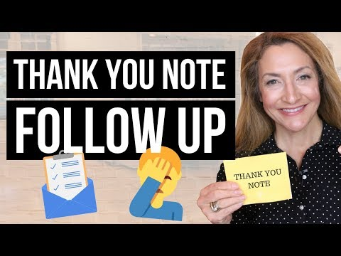 How To Follow Up With An Employer After Sending A Thank You Note