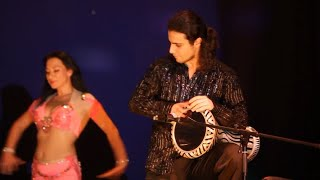 Belly Dance drum solo Elena Ramazanova and Artem Uzunov. Darbuka solo tabla