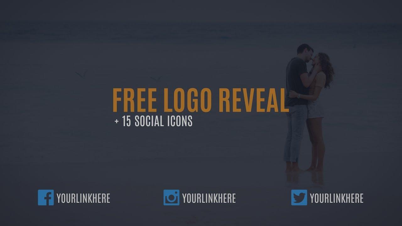 FREE Logo Reveal + 15 Social Icons Animation