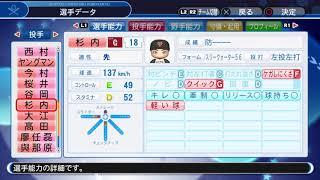 パワプロ2018選手名鑑紹介動画です。
