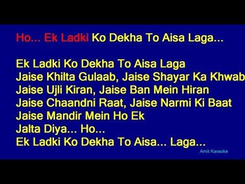 ek-ladki-ko-dekha-to---kumar-sanu-hindi-full-karaoke-with-lyrics