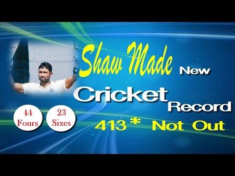 Pankaj Shaw New Cricket Star