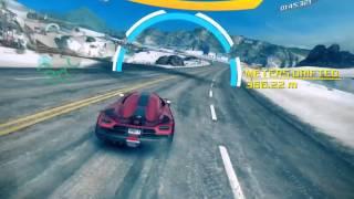 Asphalt 8: Airborne -- Koenigsegg Iceland Gate Drift