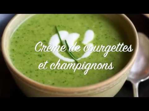 recette-de-la-crème-de-courgettes-et-champignons