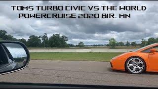 Toms wild 500whp Civic @ Powercruise USA 2020