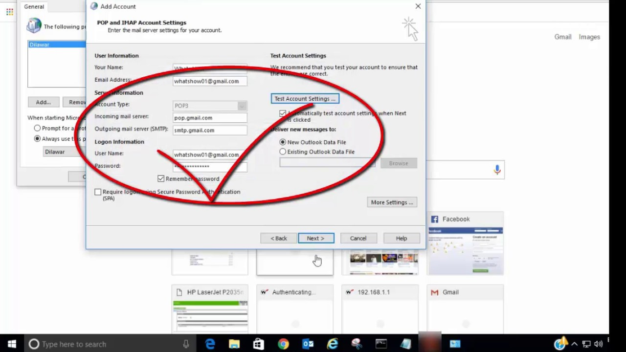 How to Setup Gmail In outlook 9  Setup Gmail via IMAP work with Ms  Outlook
