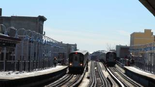 IRT Subway: Double R142A (5) & R142 (2) Trains at Freeman St.