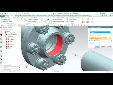Pipe Fittings assemblyin Siemens NX 10