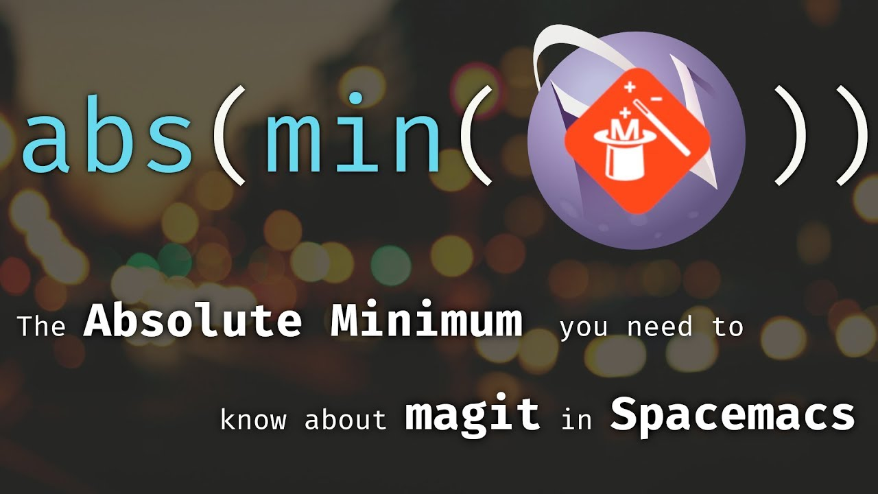 Git in Spacemacs/Emacs with Magit