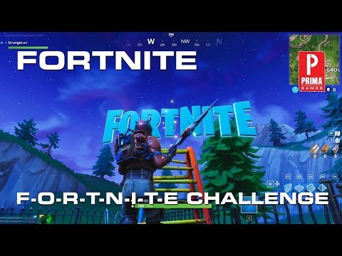 Fortnite Letter Locations  - Search F-O-R-T-N-I-T-E Letters Challenge