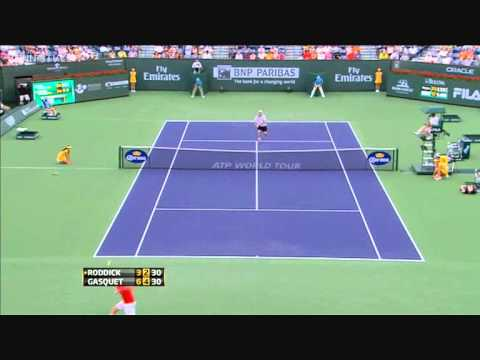Richard Gasquet vs. Andy Roddick (Indian Wells 2011)