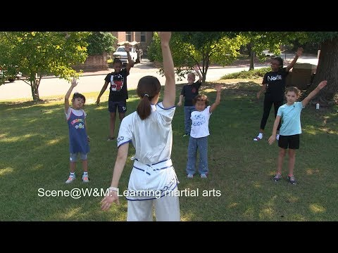 Scene@W&M: Learning martial arts