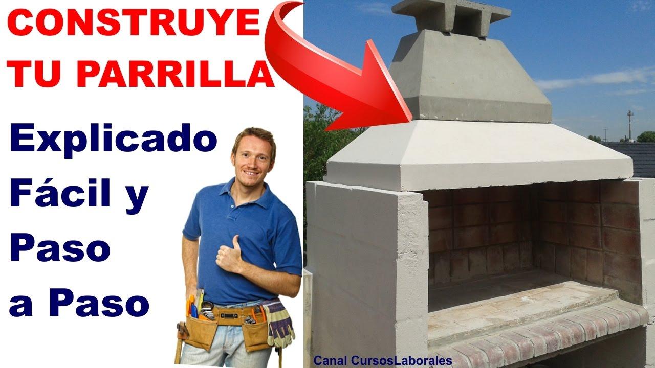 Como hacer una parrilla instrucciones para construir un - Planos de chimeneas de ladrillo ...