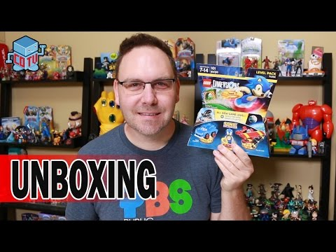 Lego Dimensions Sonic The Hedgehog Level Pack Unboxing