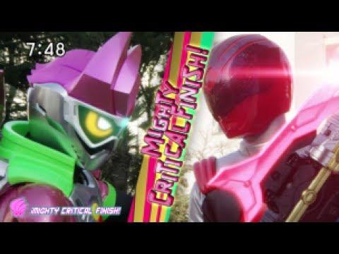 Uchū Sentai Kyuranger ||Kyuranger Leo Red & Kamen Rider Ex-Aid|| Battle Scene (Episode 07)