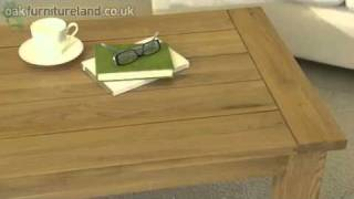 Newark Solid Oak Coffee Table From Oak Furniture Land