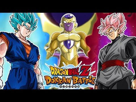 Hybrid Villain/Hero Team vs Golden Frieza 50 Stamina Super Event! | DBZ Dokkan Battle