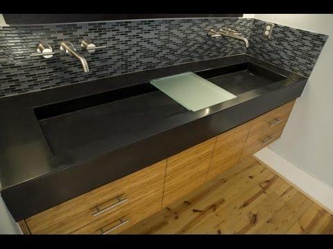 Bathroom Vanity Trough Sink Youtube